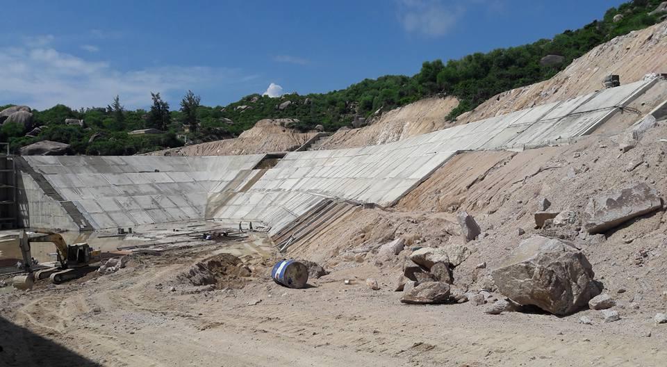 Công trình XD tại xã đảo Nhơn Châu - Ảnh: Đức Hiệp