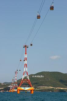 Ảnh: Tuyến cáp treo Vinpearl Land vịnh Nha Trang dài 3320 m